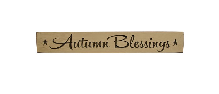 """Autumn Blessings Engraved Sign - 24""""-Autumn Blessings Engraved Sign - 24"""