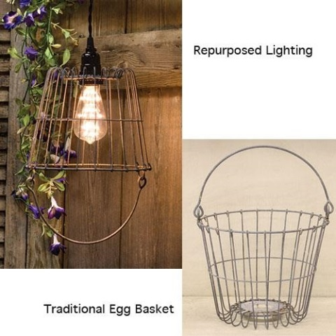 Galvanized Egg Basket - 8 Inch-Galvanized Egg Basket - 8 Inch