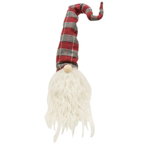 Red/Grey Plaid Gnome-RedGrey Plaid Gnome