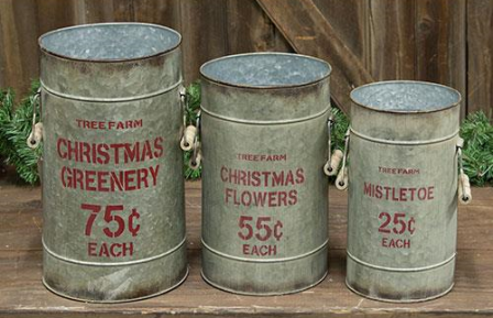 3/Set, Tree Farm Buckets-3Set, Tree Farm Buckets