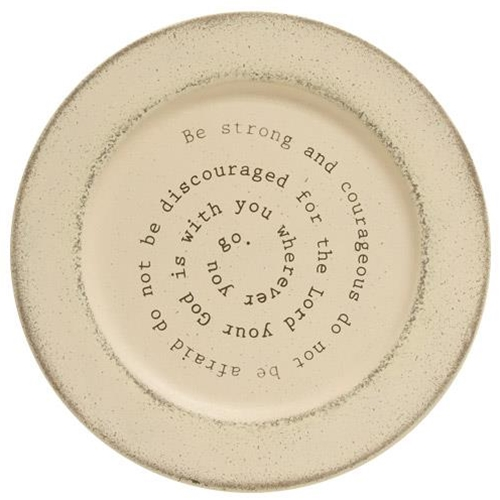 Be Strong and Courageous Plate-Be Strong and Courageous Plate