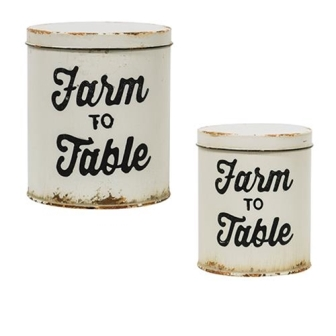 2/Set, Farm to Table Canisters-2Set, Farm to Table Canisters