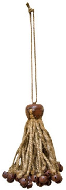 Jute & Bell Bundle Ornament-Jute & Bell Bundle Ornament