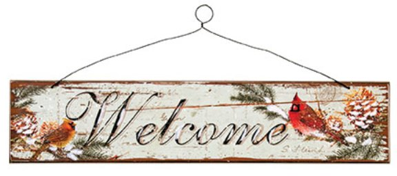 Cardinal Welcome Sign-Cardinal Welcome Sign