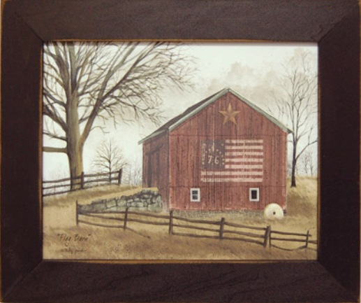 Flag Barn Framed Print-Flag Barn Framed Print,Artist Billy Jacobs