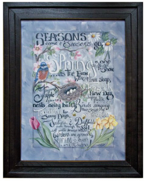 Spring Words Framed Print