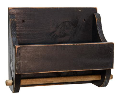 Black Wood Paper Towel Holder-Black Wood Paper Towel Holder