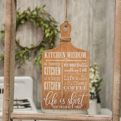Kitchen Wisdom Hanging Cheese Board-Kitchen Wisdom Hanging Cheese Board