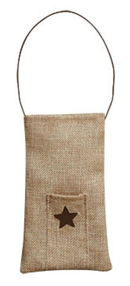 Burlap Bag With Pocket