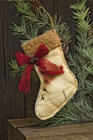 Rustic Stocking Ornament-Rustic Stocking Ornament
