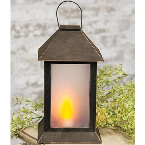 Black and Bronze Colonial Lantern-Black and Bronze Colonial Lantern