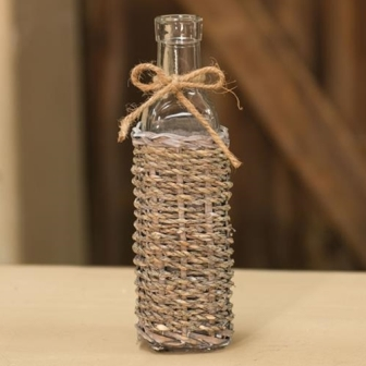 Seagrass Long Neck Glass Bottle-Seagrass Long Neck Glass Bottle