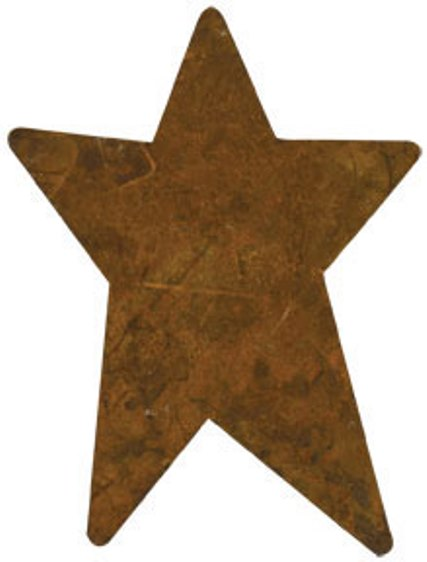 Rusty Stars - Pack of 12 - 1.5x1-Rusty Stars - Pack of 12 - 1.5x1