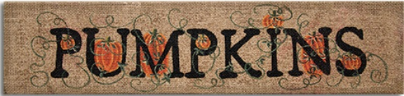 Burlap Pumpkins Sign
