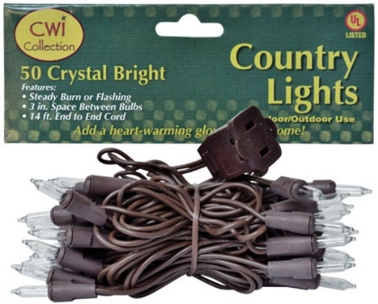 Light Strand 50 Count Brown Cord-Light Strand 50 Count Brown Cord