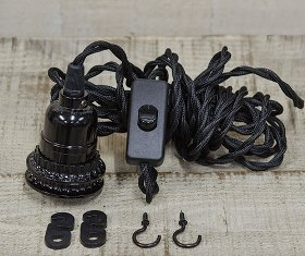 Single Socket Cord Pendant Lamp Kit