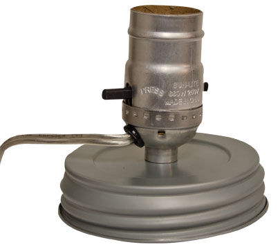 Canning Jar Lamp Adapter - Wide Mouth